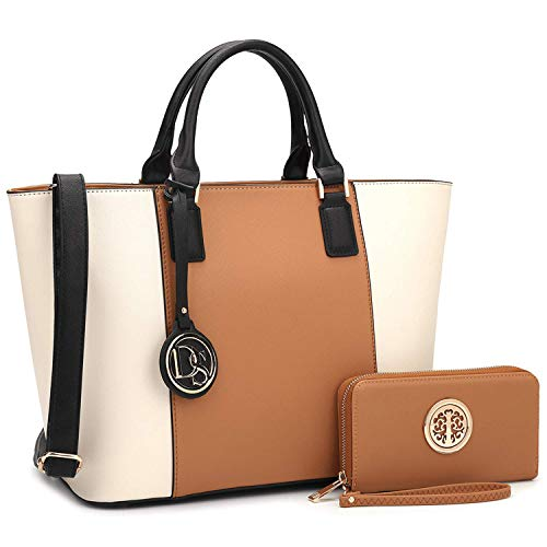 MMK collection Women Fashion Matching Satchel/ Tote handbags with walle(6417)t~Designer Purse with...