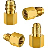4 Pieces 6015 R134A Brass Refrigerant Tank Adapter to R12 Fitting Adapter 1/2 Female Acme ...