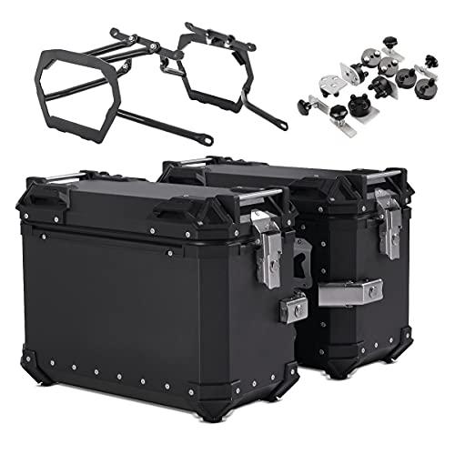 Maletas Laterales ALU + Soporte per Suzuki V-Strom 650 / XT 17-21 XB38 Negro