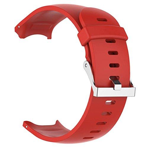 TPulling Garmin Approach S3cinturino in silicone nuovo morbido naturali moda morbido ricambio Silicagel Soft cinturino per Garmin Approach S3GPS Watch braccialetto da polso, Rot