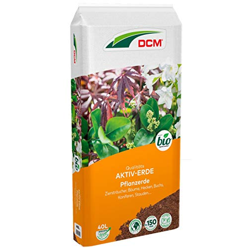 DCM-Cuxin Aktiv-Erde Pflanzerde für Zierpflanzen, Bäume, Hecken, Stauden, Buchs, Koniferen, 40 Liter