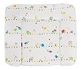 roba Folien Wickelauflage 'Waldhochzeit', weiche Wickelunterlage 85x75 cm, Baby Wickeltischauflage aus phtalatfreier Folie