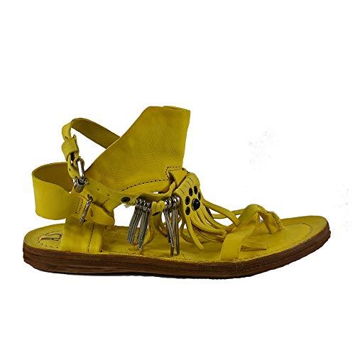 A.S.98 Airstep Damen Leder Römersandale Ramos Sandalette Sandalen Gelb : 36 Schuhgröße 36