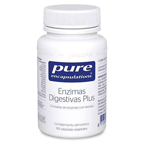 Pure Encapsulations - Enzimas Digestivas Plus - Complejo de Enzimas con Lactasa - Soporte en la Digestión de Proteínas, Grasas, Fibras Vegetales y Lácteos - 90 Cápsulas Vegetarianas