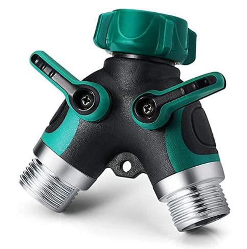 SGU Splitter De Tuyau D'arrosage, Adaptateur Tuyau Séparateur De Robinet à 2 Voies, Y Splitter avec Grip en Caoutchouc, Jardin Système D'irrigation Composants