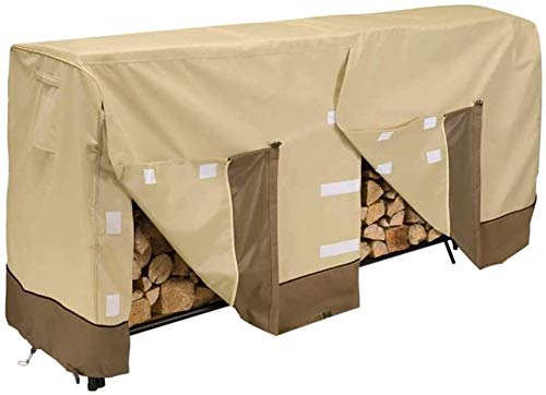 Read About LLM Garden Cover Wood Shelf Cover, 600D Oxford firewood Cover, Waterproof Wood Protection...