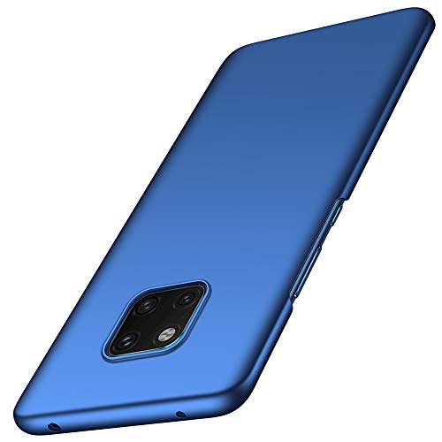 ORNARTO Hülle für Huawei Mate 20 Pro, Ultra Dünn Schlank Stoßfest, Anti-Scratch FeinMatt Einfach Handyhülle Abdeckung Stoßstange Hardcase für Huawei Mate20 Pro (2018) 6.39' Blau