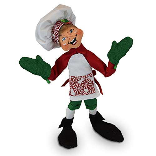 Annalee 12in Peppermint Chef Elf