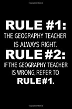 Rule #1: The Geography teacher is always right Rule #2: If the Geography teacher is wrong refer to Rule #1 Graduation Journal 6 x 9 120 pages Graduate notebook: Funny Careers Diary