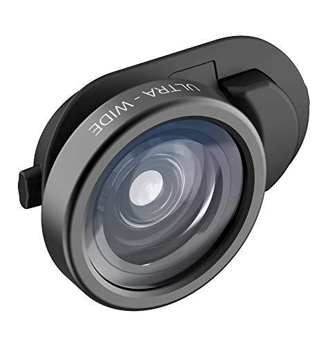 olloclip Essential Ultra Wide - 155° Super Weitwinkel-Linse Kameralinse für iPhone X, XR, XS/Max, iPad, MacBook, Connect X System, Tele Objektiv mit 155 Grad Winkel, Linsenaufsatz, HD-Kameraobjektiv