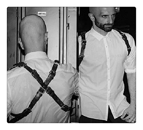 Z-one 1 Herren Kunstleder Weste Body Back Body Brustgurt X-Form ?rmelloses Hemd, Bequeme obere R¨¹ckenst¨¹TZE Unterst¨¹Tzung