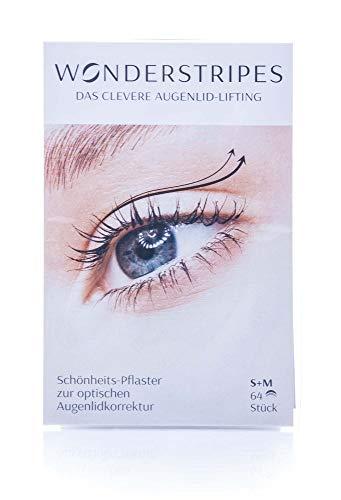 WONDERSTRIPES das Original | KOMBI PACKUNG | klein + mittel 64 Stk. | Schönheitspflaster zur optischen Augenlidkorrektur