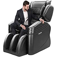 Kaspuro N500 Pro Zero Gravity Full Body Massage Chair Recliner with Lower Back Heating and Foot Roller (Black-1)