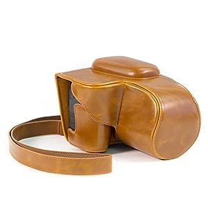MegaGear Ever Ready Funda Protectora de Piel para cámara Digital Canon PowerShot SX60 HS (marrón Claro)