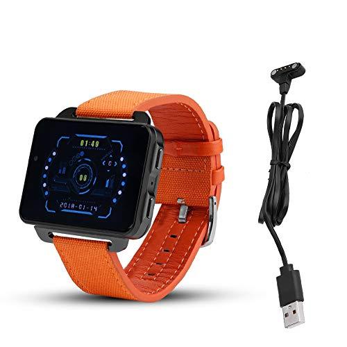 Smartwatch-telefoon, Bluetooth GPS Hartslag IP67 Smartwatch Smartphone-stappenteller voor LEMFO LEM4 Pro voor heren Dames Kinderen (oranje)