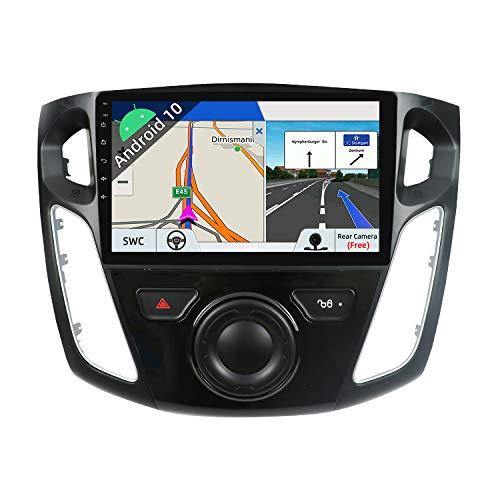 JOYX Android 10 Autoradio Per Ford Focus (2012-2017) Navigatore - 2G/32G- Telecamera Canbus Gratuiti - 9 Pollici - GPS 2 DIN - Supporto DAB 4G WLAN Bluetooth Carplay Volante Mirrorlink Android Auto