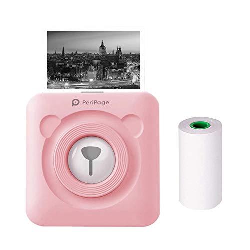 JEPODOR PeriPage Mini Portable Bluetooth Wireless Paper Photo Printer Pocket Thermal Printing USB Connection Impresoras Fotos (Pink)
