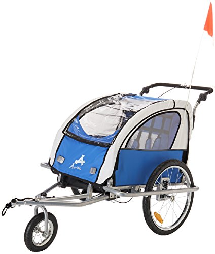 Buy Discount Aosom Elite 360 Swivel 2-in-1 Double Child Two-Wheel Bicycle Cargo Trailer and Jogger w...