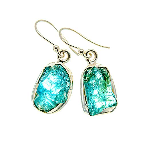 Ana Silver Co Apatite Earrings 1 1/4' (925 Sterling Silver)
