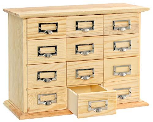 VBS Commode d'apothicaire, meuble déco en bois