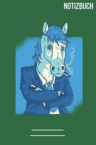 Notizbuch quadratisch Raucher Pferd: A5 Notebook • 111 Seiten • Extra Kalender 2020 • Einzigartig • Kariert • Karriert • karo • Geschenk • Geschenkidee