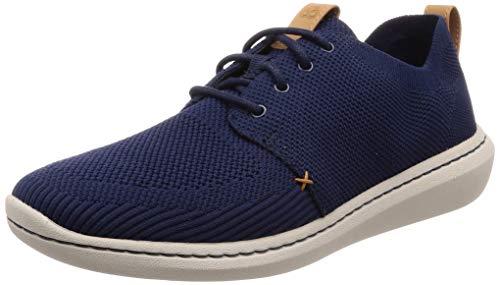 Clarks Step Urban Mix, Zapatos de Cordones Derby Hombre, Azul (Navy-), 41.5 EU