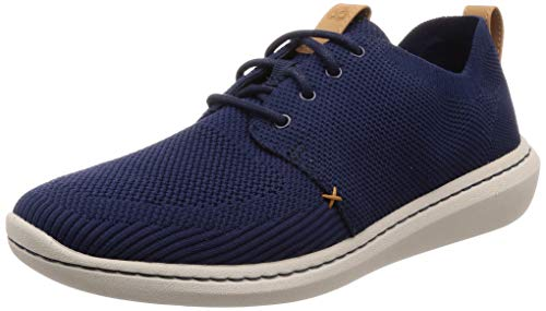 Clarks Herren Step Urban Mix Derbys, Blau (Navy), 43 EU