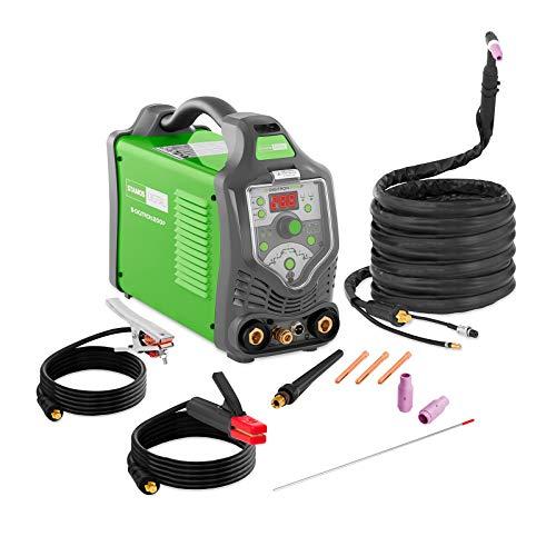 Stamos Eco - S-DIGITRON 200P - WIG Schweißgerät (200 A, 230 V, 2-/-4 Takt, WIG, DC, MMA/E-Hand, ECO + Zubehör) grün