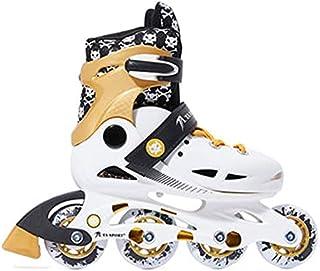 حذاء تزلج بعجلات قابل للتعديل من دورسا لون ذهبي مقاس 38-41