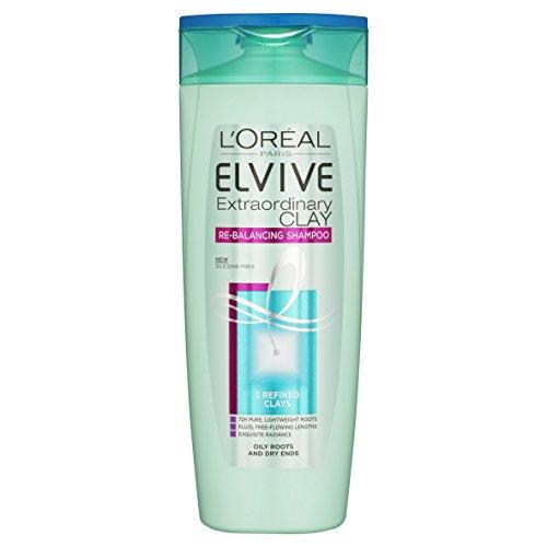 L'Oreal Paris Elvive extraordinaria arcilla reequilibrio Shampoo, 500 ml