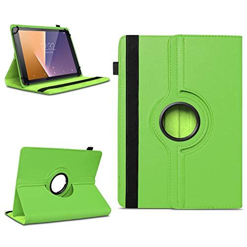 Tasche für Vodafone Tab Prime 7 Tablet Hülle Schutzhülle Case 360° Drehbar Cover, Farben:Grün
