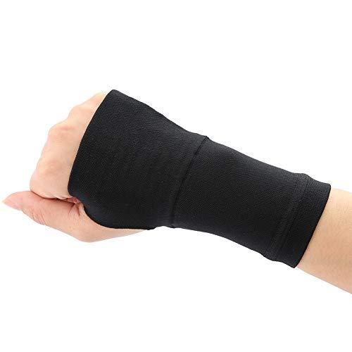Doact Muñequera Protección de soporte de manos, Muñequera de túnel carpiano, Protector de mano derecha e izquierda, Esguince Antebrazo Férula carpiana Recuperación de artritis Negro(M)
