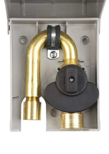 Gas Plug G0101-5W-50 Gas Outlet Box with 1/2-Inch Inlet, 3/8-Inch Outlet and White PVC Enclosure