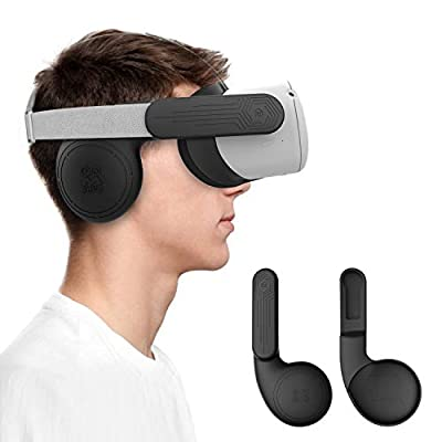 AMVR Silicone Ear Muffs for Oculus Quest 2 VR Headset to Enhanced Headset Sound, Quest 2 Accessories Headphone Extension Cover