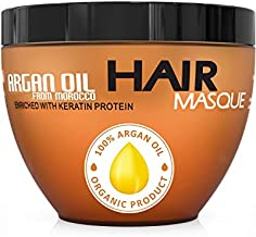 Argan Oil Hair Mask - Deep Conditioner Sulfate Free for Dry or Damaged Hair with Jojoba Kernel Oil Aloe Vera Collagen and Keratin