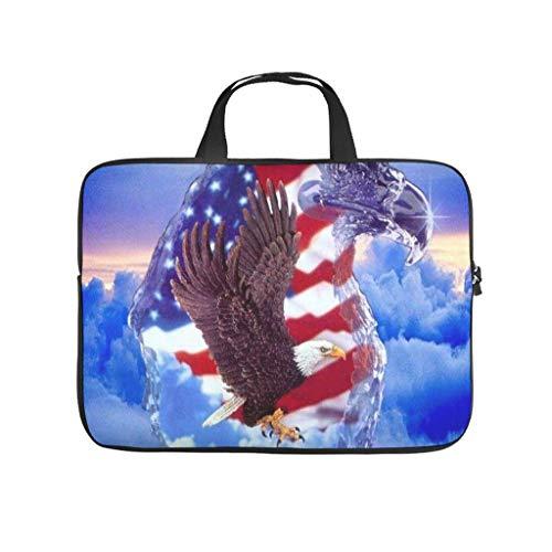 American Eagle - Funda impermeable para portátil, diseño de bandera estadounidense