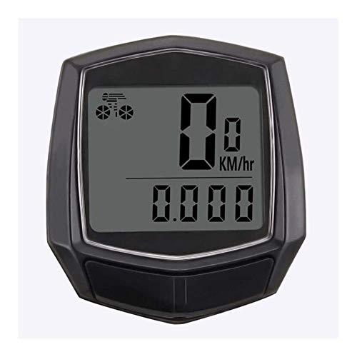Cuentakilómetros LCD impermeable para bicicleta Tacómetro multifuncional para bicicleta Velocímetro Inteligente y...