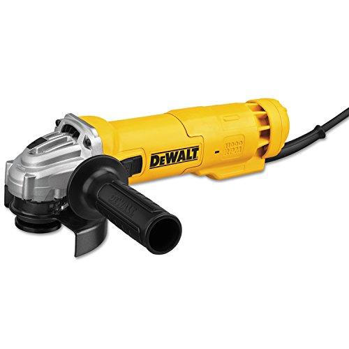 DEWALT Angle Grinder Tool, 4-1/2-Inch, Slide Switch, 11-Amp (DWE4214), Yellow