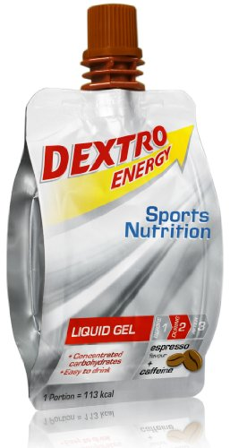 Dextro Energy Gel Sport / 18x60ml Liquid Gel Cola / Mit Vitamin B1, Guarana Extrakt & Dextrose / Koffein Pulver Alternative / 100% Laktosefrei