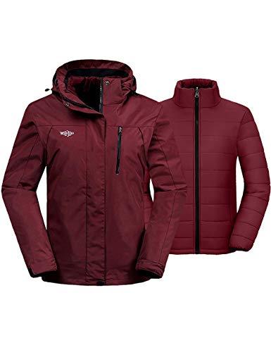 Wantdo Women's 3 in 1 Waterproof Ski Jacket...