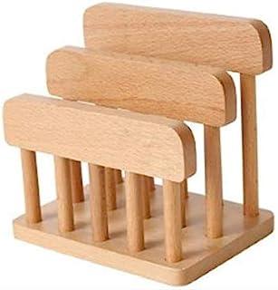Feel Soon Retail Beech Wooden Dual Cutting Board Rack Chopping Board Organizer Stand Holder Kitchen