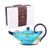 Artvigor Teiere Caffettiere Caraffe per tè e caffè in Porcellana Ceramica Anatra Set da caffè tè per Una Persona Colori Misti Azzurro 800ml