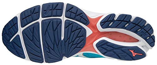 Mizuno Wave Rider 22, Zapatillas para Niñas, Multicolor (Blueato/Whi/Georgiap 001), 35 EU