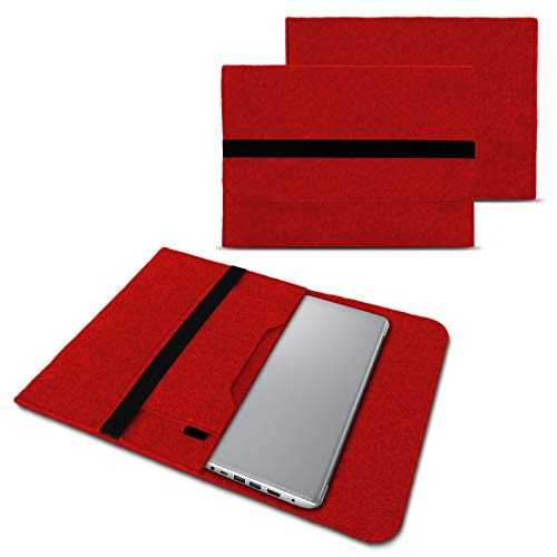 NAUC Schutzhülle kompatibel für Lenovo Yoga C940 S940 14 Zoll Notebook Sleeve Laptop Tasche hochwertiger Filz Laptoptasche, Farben:Rot