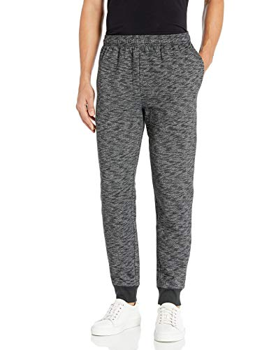 Amazon Essentials Men's Fleece Jogger Pant, Charcoal Space-Dye, Small