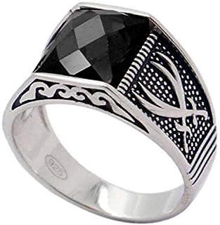 خاتم من الفضة الإسترلينية للرجال من آتيك