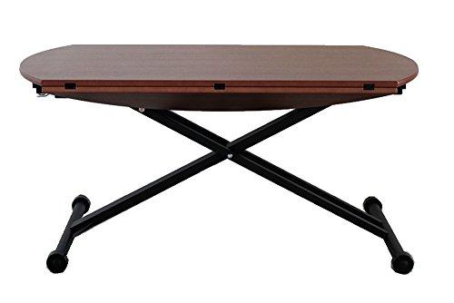 大川家具 東馬 昇降テーブル ブラウン 120cm幅 アイルス