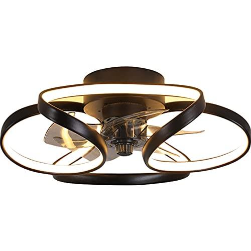 William 337 Luces de Ventilador de Techo, araña con Ventilador eléctrico, Luces de Ventilador de Techo Ligero de Lujo en uno, creativos y silenciosos, Dormitorio, Comedor, Sala de Estar y hogar.