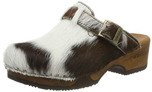 Woody Trachten Clogs - MANU Fell - braun, Größe 37