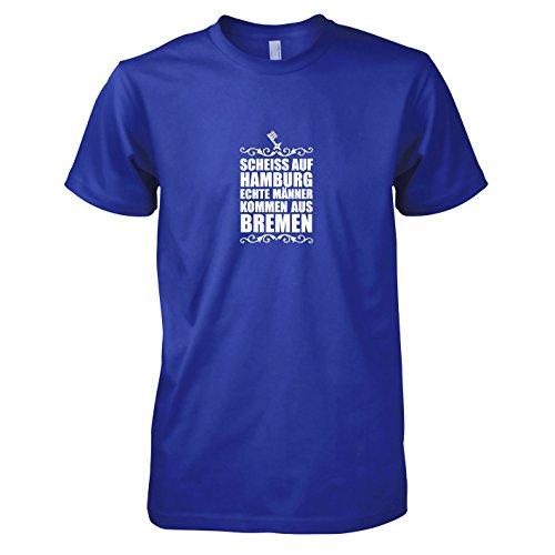 Texlab - Scheiss auf Hamburg - Herren T-Shirt, Größe L, Marine